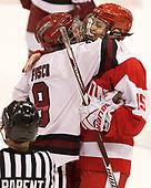 Bradley Fusco (Harvard - 9), Mary Parker (BU - 15) - The Harvard University Crimson tied the Boston University Terriers 6-6 on Monday, February 7, 2017, in the Beanpot consolation game at Matthews Arena in Boston, Massachusetts.