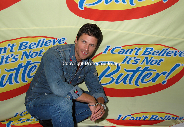 """Greg Vaughan,  who will be the new I Can't Believe It's Not Butter Spokesman..at The """"Love Games"""" Competition to see who is the ..Next Spokesperson for """"I Can't Believe It's Not Butter"""" ..on June 7, 2006 at Madison Square Park. ..Robin Platzer, Twin Images"""