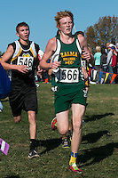 Jacob Steinberg, a, Zalma junior, runs to a 17th-place finish in Class 1 at the 2015 MSHSAA State Cross Country Championships.