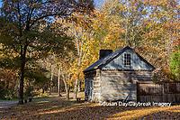 63895-16512 Cabin at Log Cabin Village in fall Kinmundy IL