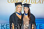Emma Lowham from Tralee and Sarah Jane Donovan graduating from the I T Tralee on Friday.
