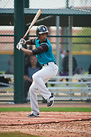 Mariano Poll, Jr. (1) of James Monroe Campus High School in Bronx, New York during the Under Armour All-American Pre-Season Tournament presented by Baseball Factory on January 14, 2017 at Sloan Park in Mesa, Arizona.  (Art Foxall/MJP/Four Seam Images)