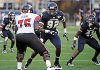 Florida International University football player defensive lineman Paul Crawford (92) plays against the University of Louisiana-Lafayette on September 24, 2011 at Miami, Florida. Louisiana-Lafayette won the game 36-31. .