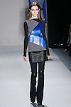 Tali Lennox walks the runway in a Nicole Miller Fall 2011 outfit, during Mercedes-Benz Fashion Week.