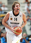 Sep 13, 2007 - Madrid, Spain - DIRK NOWITZKI of Germany gestures during quarterfinal match between Spain and Germany in Madrid. Spain outscored Germany 83:55  (credit image: © Pedja Milosavljevic/ZUMA Press)