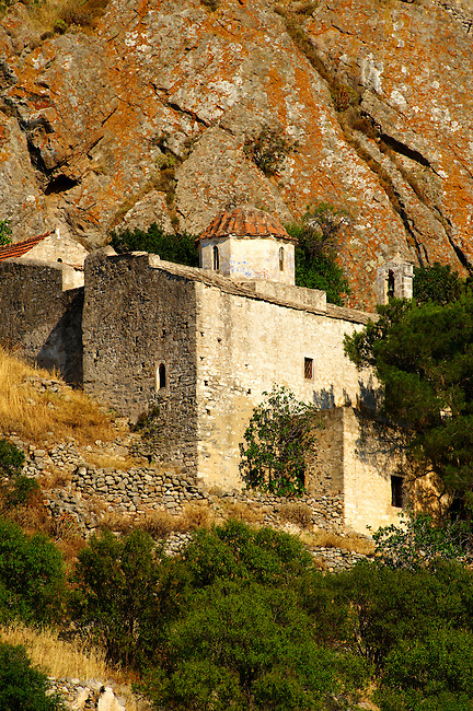 Byzantine chapels of the old Bronze Age  hill village of Paliachora (894),  Aegina - Colonna , Greek Saronic Islands