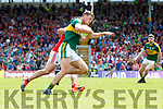 Donnchadh Walsh Kerry  in action against Sean Powter Cork in the Munster Senior Football Final at Fitzgerald Stadium on Sunday.
