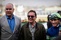 ARCADIA, CA - DECEMBER 26: Jockey Gary Stevens and Peter Eurton at Santa Anita Park on December 26, 2017 in Arcadia, California. (Photo by Alex Evers/Eclipse Sportswire/Getty Images)