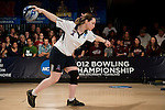 14 APR 2012: Liat Vezenfeld (22) of Fairleigh Dickson University bowls during the Division I Womens Bowling Championship held at Freeway Lanes in Wickliffe, OH.  The University of Maryland Eastern Shore defeated Fairleigh Dickinson 4-2 to win the national title.  Jason Miller/NCAA Photos