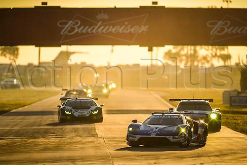 March 18th, 2017; Sebring, Florida, USA; 12 Hours of Sebring Weathertech Sportscar championship;  #66 FORD CHIP GANASSI RACING (USA) FORD GT GTLM DIRK MUELLER (DEU) JOEY HAND (USA) SEBASTIEN BOURDAIS (FRA)