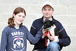 "Sarah-Beth and Colin Bradley with socks enjoying ""National Dog Walking Day"" at Petmania...(Photo credit should read Jenny Matthews www.newsfile.ie)....This Picture has been sent you under the conditions enclosed by:.Newsfile Ltd..The Studio,.Millmount Abbey,.Drogheda,.Co Meath..Ireland..Tel: +353(0)41-9871240.Fax: +353(0)41-9871260.GSM: +353(0)86-2500958.email: pictures@newsfile.ie.www.newsfile.ie."