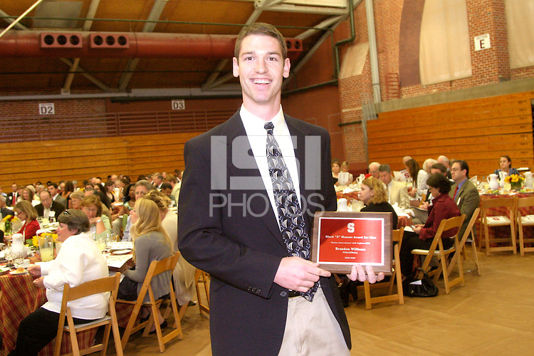 STANFORD, CA - JUNE 11:  Student-athletes are honored at the Athletic Board Awards Luncheon at Burnham Pavilion in Stanford, California. Pictured is Brandon Williams.
