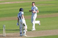 Peter Siddle of Essex celebrates taking the wicket of Adam Lyth during Essex CCC vs Yorkshire CCC, Specsavers County Championship Division 1 Cricket at The Cloudfm County Ground on 4th May 2018