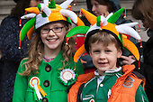 LONDON, ENGLAND - St. Patrick's Day festival and parade in London