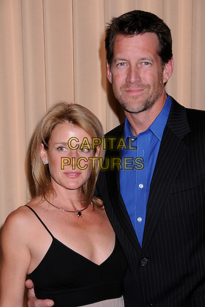 ERIN & JAMES DENTON.12th Annual PRISM Awards at the Beverly Hills Hotel, Beverly Hills, California, USA..April 24th, 2008.half length black suit jacket blue shirt married husband wife stubble facial hair.CAP/ADM/BP.©Byron Purvis/AdMedia/Capital Pictures.
