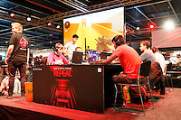 Nederland Utrecht  2016. Het Firstlook Festival. Op 7, 8 en 9 oktober opent de Jaarbeurs in Utrecht haar deuren voor de 9de editie van het grootste game-evenement van de Benelux: Firstlook Festival. Het is een festival met games, gadgets, hardware, comics, cosplay, eSports en merchandise.  Foto Berlinda van Dam / Hollandse Hooogte.