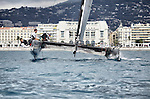 The GC32 is the one design for the Great Cup Racing circuit, at the Extreme Sailing Series, Nice, Alpes-Maritimes, France.