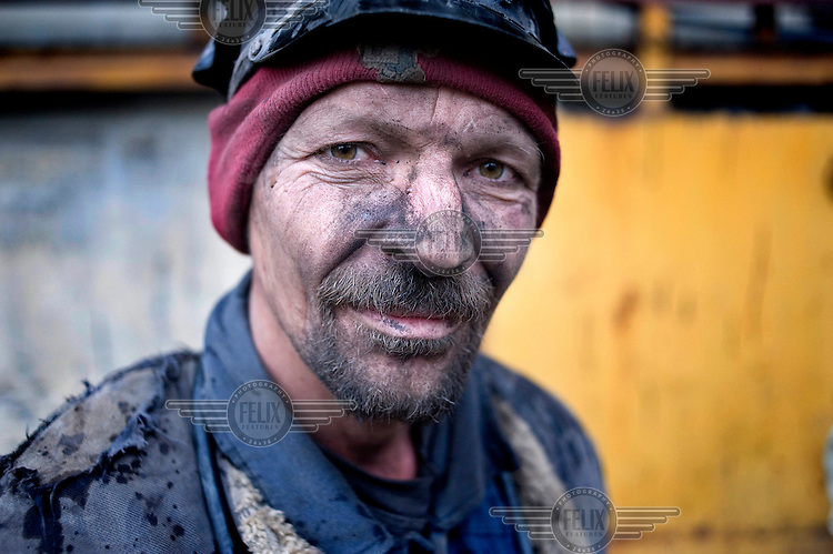 A miner at the Lonea coal mine.