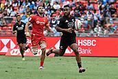 2nd February 2019, Spotless Stadium, Sydney, Australia; HSBC Sydney Rugby Sevens; New Zealand versus Spain; Jona Nareki of New Zealand runs in for a try