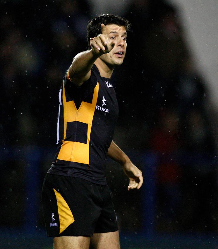 Photo: Richard Lane/Richard Lane Photography. Cardiff Blues v London Wasps. LV= Cup. 09/11/2012. Wasps' Hugo Southwell.