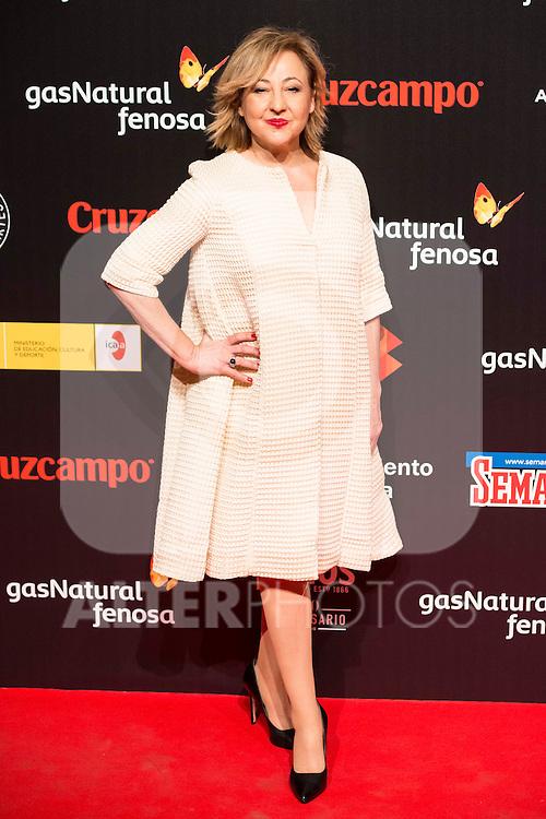 Carmen Machi attends to the cocktail presentation of the XIX Malaga Film Festival at Circulo de Bellas Artes in Madrid. April 06, 2016. (ALTERPHOTOS/Borja B.Hojas)
