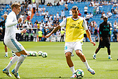 9th September 2017, Santiago Bernabeu, Madrid, Spain; La Liga football, Real Madrid versus Levante; Theo Hernandez (15) of Real Madrid warming up