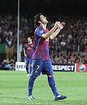 UEFA Champions League, Spain, Camp Nou, FC Barcelona v Viktoria Plzen. Picture show David Villa