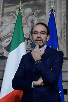 Roma, 4 Aprile 2018<br /> Riccardo Nencini<br /> Primo giorno di Consultazioni per la formazione del Governo