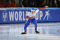 SPEED SKATING: STAVANGER: Sørmarka Arena, 31-01-2016, ISU World Cup, 500m Men Division A, Pavel Kulizhnikov (RUS), ©photo Martin de Jong