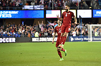 San Jose, CA - March 24, 2017: The U.S. Men's National team go on to defeat Honduras 6-0 with Clint Dempsey adding goals during their 2018 FIFA World Cup Qualifying Hexagonal match at Avaya Stadium.