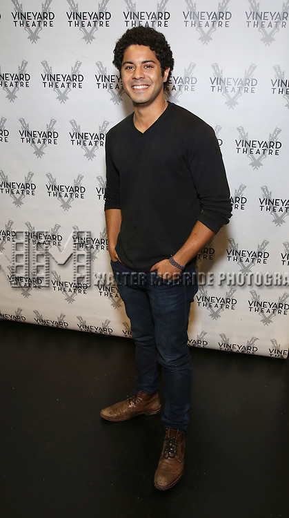 "Ian Quinlan attends the Cast photo call for the Vineyard Theatre production of ""Good Gfief"" on September 12, 2018 at the Vineyard Theatre in New York City."