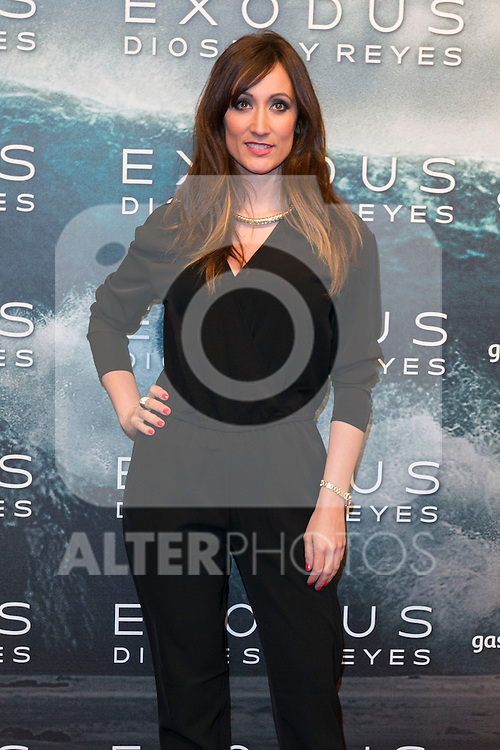 "Ana Morgade attend the Premiere of the movie ""EXODUS: GODS AND KINGS"" at callao Cinema in Madrid, Spain. December 4, 2014. (ALTERPHOTOS/Carlos Dafonte)"
