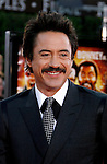 "Actor Robert Downey Jr. arrives at the Los Angeles Premiere Of ""Tropic Thunder"" at the Mann's Village Theater on August 11, 2008 in Los Angeles, California."