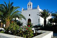 Kirche in Uga, Lanzarote, kanarische Inseln, Spanien