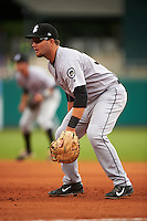 Jackson Generals first baseman D.J. Peterson (33) during a game against the Montgomery Biscuits on April 29, 2015 at Riverwalk Stadium in Montgomery, Alabama.  Jackson defeated Montgomery 4-3.  (Mike Janes/Four Seam Images)