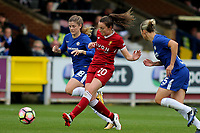 Caroline Weir of Liverpool Ladies passes the ball upfield during Chelsea Ladies vs Liverpool Ladies, FA Women's Super League FA WSL1 Football at Kingsmeadow on 7th October 2017