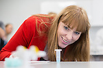 © Joel Goodman - 07973 332324 . 26/09/2016 . Liverpool , UK . Shadow Education Minister ANGELA RAYNOR is shown how to take a DNA swab , along with students studying biology , in a new science lab at Liverpool City College , at a visit during the second day of the Labour Party Conference in Liverpool . Photo credit : Joel Goodman