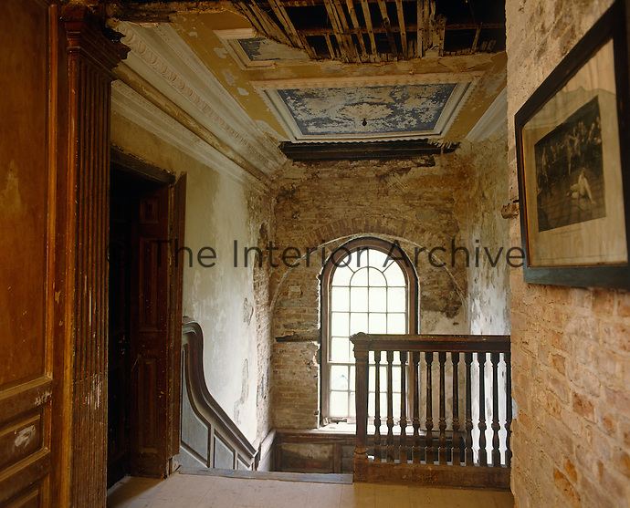The restoration of this Irish Georgian town house shows how the mouldings and plasterwork on the upstairs landing are being recreated