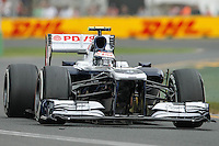 MELBOURNE, 16 MARCH - Valtteri Bottas (FIN) from the Williams F1 Team rounds turn six in free practice session three on day three of the 2013 Formula One Rolex Australian Grand Prix at the Albert Park Circuit in Melbourne, Australia. Photo Sydney Low / syd-low.com