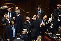 Roma, 19 Aprile 2013.Camera dei Deputati.Votazione del Presidente della Repubblica a camere riunite.Quarto Scrutinio..Bersani, Bindi, Fioroni, Zingaretti