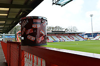 Stevenage Supporters Drum during Stevenage vs Cambridge United, Sky Bet EFL League 2 Football at the Lamex Stadium on 14th April 2018