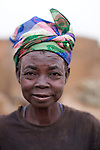 A woman in the village of Manyoro, in the Bolgatanga municipality of North Eastern Ghana...Ghana 20 January 2012.