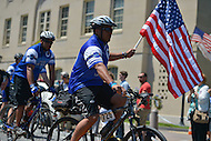 May 12, 2013  (Washington, DC)  Riders in the 2013 Police Unity Tour arrive at the National Law Enforcement Memorial in D.C. 1800 riders from across the country raised more than $1.7 million.  (Photo by Don Baxter/Media Images International)