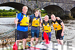 Mike Moriarty, Keith Wright, Brian O'Sullivan and John Tobin at the annual Killorglin raft race on Friday evening