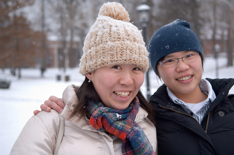 18542Campus Winter ...Eri Yamada and Joyce Chiang(right)