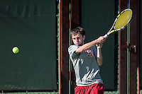 STANFORD, CA - February 22, 2014 : Stanford vs Cal men's tennis match in Stanford, California. Final score, Stanford 0, Cal 7.