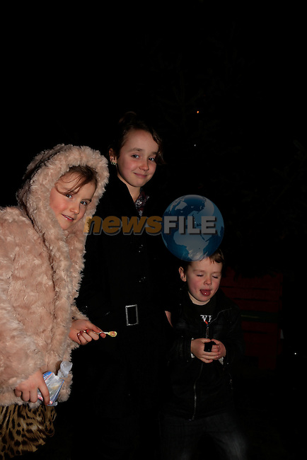 Lisa Hall Aoife Hall Milo Haul at the switching on of the christmas tree lights in laytown.<br /> Picture: Fran Caffrey www.newsfile.ie