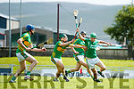 Paul O'Carroll Ballyduff in action against Liam Mullins Lixnaw in the Kerry County Hurling Championship at Austin Stack Park Tralee on Sunday.