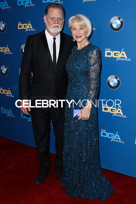 CENTURY CITY, CA - JANUARY 25: Taylor Hackford, Helen Mirren at the 66th Annual Directors Guild Of America Awards held at the Hyatt Regency Century Plaza on January 25, 2014 in Century City, California. (Photo by Xavier Collin/Celebrity Monitor)