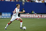17 April 2004: Bryan Namoff pushes into the attack in the second half. The MetroStars defeated DC United 3-2 at Giants Stadium in East Rutherford, NJ during a regular season Major League Soccer game..